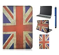 baratos -Capinha Para iPad Air 2 Com Suporte Estampada Capa Proteção Completa Bandeira PU Leather para iPad Air 2