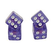 Недорогие -Автомобильные колпачки для шин, в форме игральных костей (4 шт.)