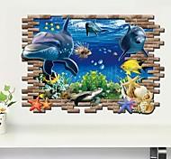 Недорогие -Животные 3D Наклейки 3D наклейки Декоративные наклейки на стены, Винил Украшение дома Наклейка на стену Стена