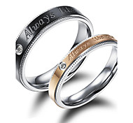 Beautiful Snowflakes and Zirconium Drill Love Couples Ring Promis rings for couples