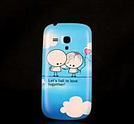 Недорогие -Samsung S3 Mini I8190N - Задняя панель - Графический/Специальный дизайн - Мобильный телефон Samsung Пластик )