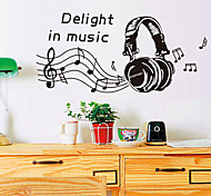 cheap -Environmental Removable Delight in Music Tags & Sticker