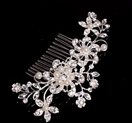 cheap -Alloy Hair Combs Headwear with Floral 1pc Wedding Special Occasion Casual Headpiece
