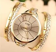 cheap -Women's Quartz Bracelet Watch Hot Sale Leather Band Bohemian Dress Watch Fashion White Blue Brown Green Gold Rose