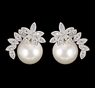 cheap -Women's 1 Drop Earrings Fashion Pearl Cubic Zirconia Alloy Jewelry Daily Costume Jewelry