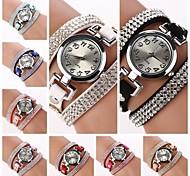Frauen runden Zifferblatt Diamant-Kreislauf-Band-Quarz-Uhr (Farbe sortiert) c&D184