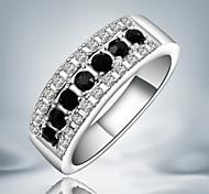 Недорогие -Женский Классические кольца Мода Массивные украшения Стерлинговое серебро Цирконий Искусственный бриллиант Бижутерия Для вечеринок