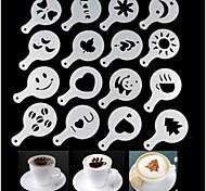 Недорогие -16pcs пластиковый фантазии приготовления кофе моделью печати минималистский дизайн от пыли площадка