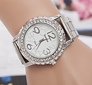 cheap -yoonheel Women's Simulated Diamond Watch Fashion Watch Casual Watch Quartz Swiss Imitation Diamond Designers Metal Band Charm Silver Gold