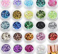 cheap -24 Colors Sequins Decorations Nail Art Kits
