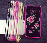 abordables -Funda Para Apple iPhone 8 iPhone 8 Plus Funda iPhone 5 iPhone 6 iPhone 6 Plus iPhone 7 Plus iPhone 7 Transparente Marco Antigolpes Color