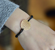 Fashion Women Flower Cut Out Stamping Elastic Bracelet Christmas Gifts