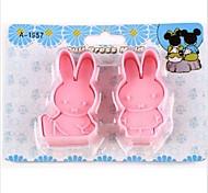 cheap -Cartoon DIY Fun Miffy Rabbit Fondant Cake Cookie Cutter Mold