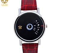 мужская круглый циферблат случайные часы кожаный ремешок кварцевые часы модные наручные часы (разных цветов)