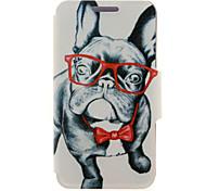 kinston® стекла собака рисунок полное тело пу крышка с подставкой для Huawei G510 / P7 / P8 / P8 чистым и Huawei Honor 6 / 6x / 6 плюс