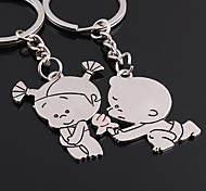 Love Forever Wedding Key Ring Keychain for Lover Valentine's Day(One Pair)