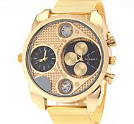 JUBAOLI Муж. Армейские часы Модные часы Кварцевый С двумя часовыми поясами Нержавеющая сталь Группа