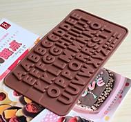 silicone bakeware inglese alfabeto cottura stampi per cioccolato (colori casuali)