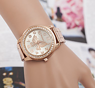 Недорогие -yoonheel Жен. Имитационная Четырехугольник Часы Модные часы Кварцевый Имитация Алмазный Металл Группа Серебристый металл Золотистый