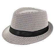 Недорогие -Универсальные Винтаж Федора Соломенная шляпа Полиэстер, Однотонный