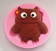 Bakeware Silicone Lovely Owl Baking Molds for Chocolate Cake Jelly (Random Colors)