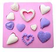 a forma di cuore fondente silicone stampi torta della muffa del cioccolato in cucina cottura strumento decorazione sugarcraft
