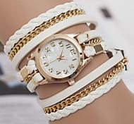 cheap -yoonheel Women's Bracelet Watch Hot Sale Leather Band Bohemian / Fashion Black / White / Brown