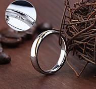 Недорогие -Персонализированные ювелирные изделия Кольца - Нержавеющая сталь - серебро -