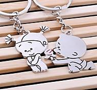 любить вечно свадьбы кольцо для ключей брелок для дня любовника Валентина (одна пара)