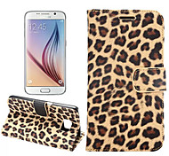 cheap -Case For Samsung Galaxy Samsung Galaxy Case Card Holder with Stand Flip Full Body Cases Leopard Print PU Leather for S7 edge S7 S6 edge