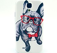 Glasses Dog TPU Soft Case for Samsung Galaxy S4 Mini I9190