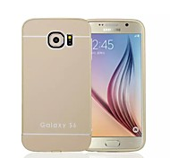 Special Design Solid Color Metal Back Cover and Bumper for Samsung Galaxy S6