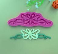 Padrão bowknot fita de renda bolo fondant forma ferramentas de decoração molde de silicone de chocolate