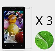 Недорогие -(3 шт) высокой четкости экран протектор Flim Для Microsoft Lumia 435