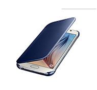 Оригинальный роскошный четкое представление экрана зеркала флип кожаный чехол для Samsung Galaxy s6 телефон сумки покрова упаковки
