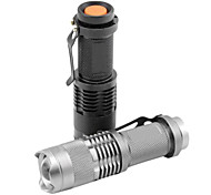 cheap -SK68 LED Flashlights / Torch LED 1200lm 1 Mode Zoomable / Adjustable Focus / Waterproof Multifunction Black / Silver / Iron