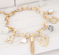 cheap -Women's Charm Bracelet Fashion Rhinestone Alloy Jewelry Christmas Gifts Daily Casual Costume Jewelry Silver Golden
