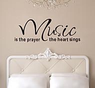 Недорогие -Цитата наклейки для стен музыка является молитва сердца съемные наклейки виниловые домашнего декора стен искусство zy8197 наклейки