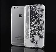Недорогие -Кейс для Назначение iPhone 6s Plus iPhone 6 Plus iPhone 6 Цветы ТПУ для
