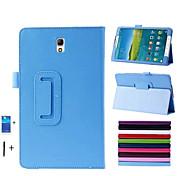 pu caso del soporte de cuero para samsung galaxy tab s 8.4 '' t700 tablet + stylus pen + membrana
