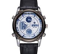 Недорогие -ASJ Муж. Наручные часы Спортивные часы Японский Кварцевый Будильник Секундомер Защита от влаги С двумя часовыми поясами ЖК экран