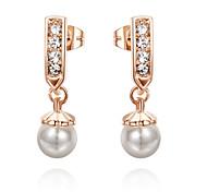 cheap -Women's Drop Earrings Fashion Pearl Imitation Pearl Cubic Zirconia Alloy Jewelry Daily Costume Jewelry