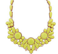 Women's Pendant Necklaces Crystal Resin Alloy Bohemian Fashion Yellow Green Jewelry Party Daily Casual 1pc
