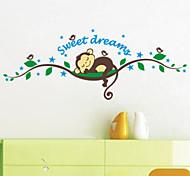 Недорогие -Животные Мультипликация 3D Наклейки Простые наклейки Декоративные наклейки на стены,Винил материал Украшение дома Наклейка на стену