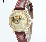 Women's Round Dial Leather Strap Automatic self-winding Watch Wrist Watch (Assorted Colors) Cool Watches Unique Watches Fashion Watch