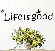 Недорогие -Жизнь хороша для поделок наклейки цитатой настенные наклейки съемный zooyoo8174 виниловые украшение дома