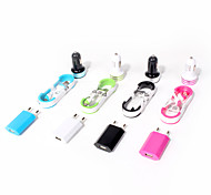 cheap -Car Charger Home Charger Portable Charger Phone USB Charger EU Plug Charger Kit Multi Ports 3 USB Ports 2.1A 1A AC 100V-240V For iPad For