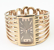 Women's Rectangle Case Gold Alloy Band Quartz Analog Bracelet Watch Cool Watches Unique Watches