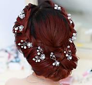 cheap -Flower Shape Pearl Hair Clip Bride Hair Wedding Headdress Wedding Accessories One Piece