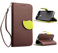 Недорогие -Кейс для Назначение Motorola Кейс для Motorola Бумажник для карт Кошелек со стендом Флип Чехол Сплошной цвет Твердый Кожа PU для